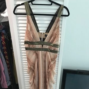 beautiful pink snake print dress